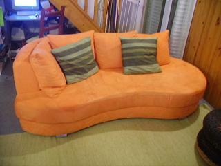 Canape merdienne fly orange 370 euros tapis 25 e canap orange fly - Canape avec meridienne fly ...